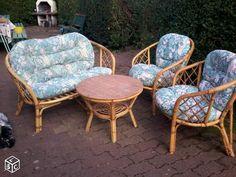 Vintage fauteuil en rotin annees 70 pied en metal Ameublement Val ...
