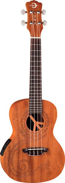 Luna Guitars - Ukulele MALU Peace Elecric - Concert