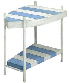 Coastal Accent Table   Boat Shape Table with Stripes: http://www.completely-coastal.com/2016/01/coastal-nautical-accent-tables-side-end-tables.html