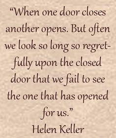 Open.......doors!