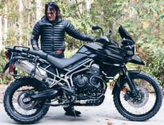 Norman Reedus with his customized Triumph motorcycle
