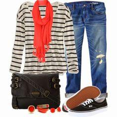 VANS Shoes & a Striped Top