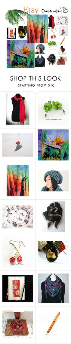 """""""Etsy Treasures"""" by glassdreamshawaii ❤ liked on Polyvore featuring Herz"""