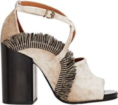 Dries Van Noten Fringed Crisscrossed-Strap Sandals at Barneys New York