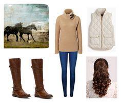 """""""Wild horses"""" by liz-lite on Polyvore featuring Ballard Designs, Frye, Calvin Klein, Ralph Lauren Black Label and J.Crew"""