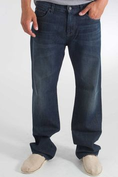 7 For All Mankind Austyn 77 Pocket Relaxed Straight Jean in Alabama Dusk- $189.00