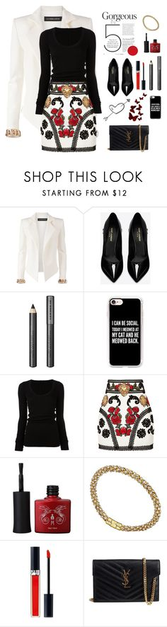 """Gorgeous In 5"" by nightowl59 ❤ liked on Polyvore featuring Alexandre Vauthier, Yves Saint Laurent, Burberry, Casetify, DRKSHDW, Dolce&Gabbana, GUESS and Christian Dior"