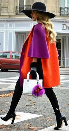 #streetstyle #spring2016 #inspiration | Color Blocking Street Style