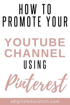 Learn how to use Pinterest as a marketing strategy to drive traffic to you gain more views on YouTube. So if you are wondering how to promote Youtube channel on Pinterest check out our blog. #pinteresttraffic #youtube #marketing #youtubemarketing Marketing Software, Marketing Tools, Online Marketing, Media Marketing, Digital Marketing, Get Youtube Views, Increase Youtube Views, Youtube Share, You Youtube
