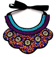 *949 Women Lady Vintage Ethnic Jewelry Purple Seedbead Bib Adjustable Necklace -- You can find out more details at the link of the image. (This is an affiliate link) #collarsnecklaces