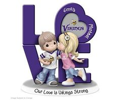 Precious Moments Figurines, Team Gear, Thing 1, Minnesota Vikings, Collectible Figurines, Hand Cast, Team Logo, Smurfs, Hand Painted