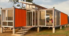 Turn two 40ft shipping containers into a luxury home with stunning views for only $40,000. It's recycling at its best and money well spent in our opinion.