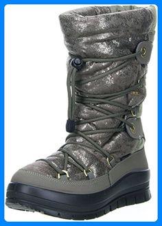 Vista Damen Winterstiefel Snowboots metallic, Größe:39;Farbe:Beige - Stiefel für frauen (*Partner-Link)
