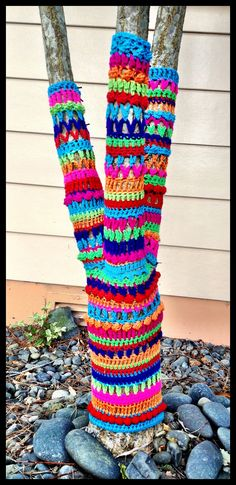 Yarn bombed My Own Tree | Finally finished the trunk and all… | Flickr