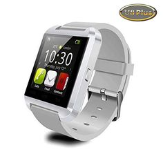 Koogogo U Watch U8 Plus U8 Upgraded Version Bluetooth Smart Watch Wristwatch Fit for Smartphones IOS Android Apple Iphone 44s55c5s Android Samsung S2s3s4note 2note 3 HTC White >>> You can find more details by visiting the affiliate link Amazon.com.