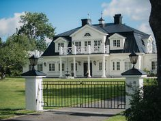 Roslagsvägen 16 Other Stockholm, Stockholm, Sweden – Luxury Home For Sale Facade Design, Architecture Design, Exterior Design, House Design, Future House, My House, Dream Mansion, French Style Homes, Hamptons House