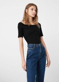 Camiseta algodón rayas | MANGO