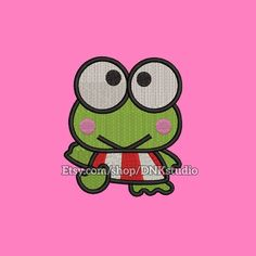 Keroppi Machine Embroidery Design  This design manually made by hand, from start to finish. It is a digitized embroidery design for a buyer who has an embroidery sewing machine.  https://www.etsy.com/listing/480847030/keroppi-machine-embroidery-design-6  #stitch #digitized #Sewing #Needlecraft #stitches #Embroidery #Applique #EmbroideryDesign #pattern #MachineEmbroidery #Keroppi #cartoon #cute #baby #animal