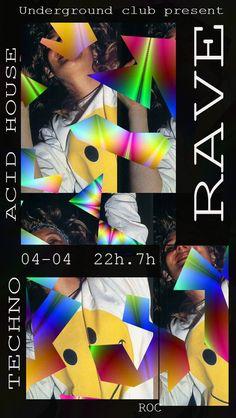 Rave Party, exemple de foyer utilisé pour les Soirée Techno ou Acid House dans les années 90. ROC Romain Cottrel