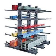 "JARKE Steeltree Heavy-Industrial Grade Cantilever Racks by Steeltree. $63.70. JARKE Steeltree Heavy-Industrial Grade Cantilever Racks let you easily store heavy lumber, tubing, and other industrial loads—up to 6000 lbs. per pair of arms without worry of sagging or collapse. Offers 2 ""3 times the capacity of our medium-duty racks. Rugged, steel bolted construction assures dependable service. Single and double tapered columns have patented internal stiffeners to ..."