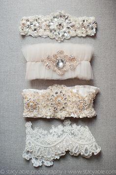 Vintage Inspired Wedding Garters. Bridal Garters // Aisle Perfect!