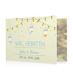 Hochzeitseinladung Leuchtendes Fest in Muschel - Doppelklappkarte flach gewickelt #Hochzeit #Hochzeitskarten #Einladung #Foto #kreativ #modern https://www.goldbek.de/hochzeit/hochzeitskarten/einladung/hochzeitseinladung-leuchtendes-fest?color=muschel&design=07a8c&utm_campaign=autoproducts