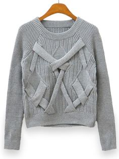 Chic Leisure O-Neck Long Sleeve Pure Color Knitted Pullover Sweater on buytrends.com