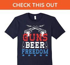 f2db23b875 Mens Guns Beer Freedom Funny 4th Of July T-shirt XL Navy - Holiday and  seasonal shirts (*Amazon Partner-Link)