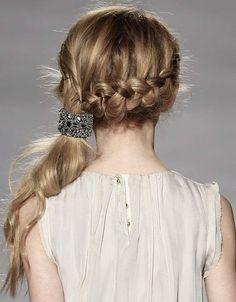 Little girl hairstyles - crown braid