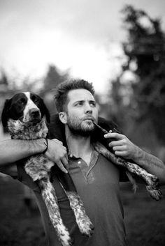 man + dog = falling in love