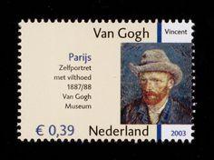 Dutch stamp - Vincent van Gogh Vincent Van Gogh, Van Gogh Art, Dutch Painters, Post Impressionism, Small Art, Scrapbook Sketches, Penny Black, Stamp Collecting, Van Gogh Museum
