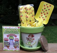 Children's Flower Pot Kit and Party Favor by EllensClayCreations