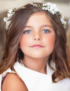 Girl's white flower crown halo ❀Flower ❀ Girls❀