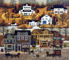 The small town of Hawk River Hollow is bustling with activity--from the Town Crier Daily to the Cape Code Quilt Ladies to the delivery car of Martha's Jellies. The 9th print in the Legacy series of 14