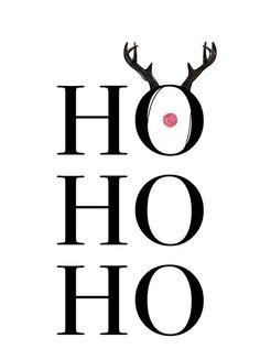 Hohoho Deer als Premium Poster von Maren Kruth Christmas Post, Christmas Quotes, Christmas Signs, White Christmas, Deer Wallpaper, Black & White Quotes, Black White, Christmas Drawing, Pumpkin Decorating