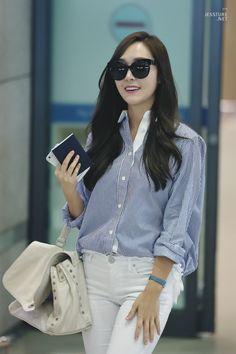 Jessica Jung Airport Fashion 150828 2015 Snsd Airport Fashion, Snsd Fashion, Jessica & Krystal, Jessica Lee, Kim Hyoyeon, Yoona, Jessica Jung Fashion, Fashion Brand, Womens Fashion
