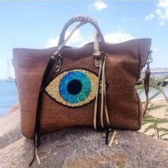 Barthelemy Rose Evil Eye Clutch - Roses and Dreams