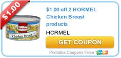 Tri Cities On A Dime: $1.00 COUPON ON 2  HORMEL CHICKEN BREAST PRODUCTS