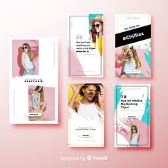 Fashion vectors, photos and psd files Instagram Design, Instagram Story Template, Instagram Story Ideas, Instagram Posts, Banner Design, Flyer Design, Layout Design, Design Creation, Character Design Sketches