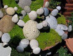 Garden Rock Craft Idea, teddy bear