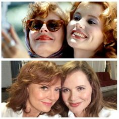 Who knew Thelma & Louise invented the selfie?! Well you do now...!   The stars of our favourite film EVER Susan Sarandon and Geena Davis shared this amazing 'then and now' selfie. Great to see they're still bffs and just as gorgeous as they were 23 years ago...   We absolutely LOVE it. Go Thelma and Louise!