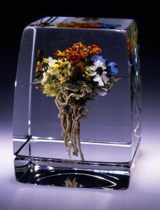 Paul Stankard glass paperweight