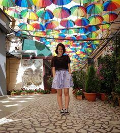 Trip to Bucharest. Great city, great people.  Skirt: NewYorker T-shirt: Tally Weijl Crop top: H&M Vans