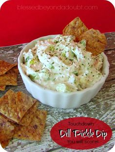 Super easy dill pickle dip recipe! Make it for your next get together or football game!