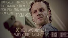 I'm gonna guess he's talking to Gabriel.... Rick Grimes Season 6 trailer | The Walking Dead quotes
