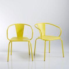 Image Oblice metal garden chair (set of 2) La Redoute Interieurs