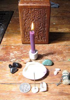 traveling altar all set up by dandelionlady, via Flickr