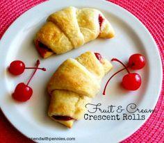 Fruit & Cream Crescents