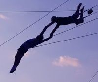 Take Trapeze Lessons. I'd like to experience the feeling of swinging through the air and then falling into that big net!