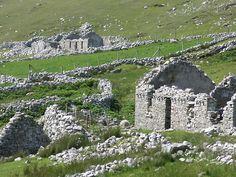 Famine village Donegal Ireland